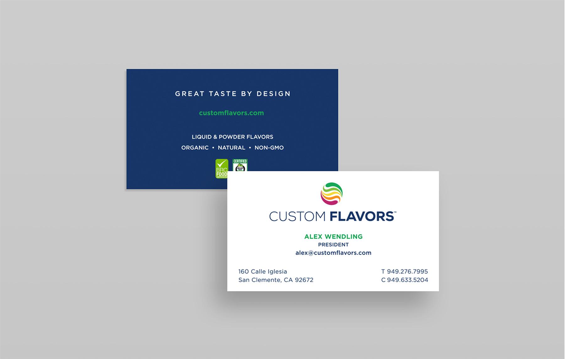 LDD WORK Custom Flavors Business Cards