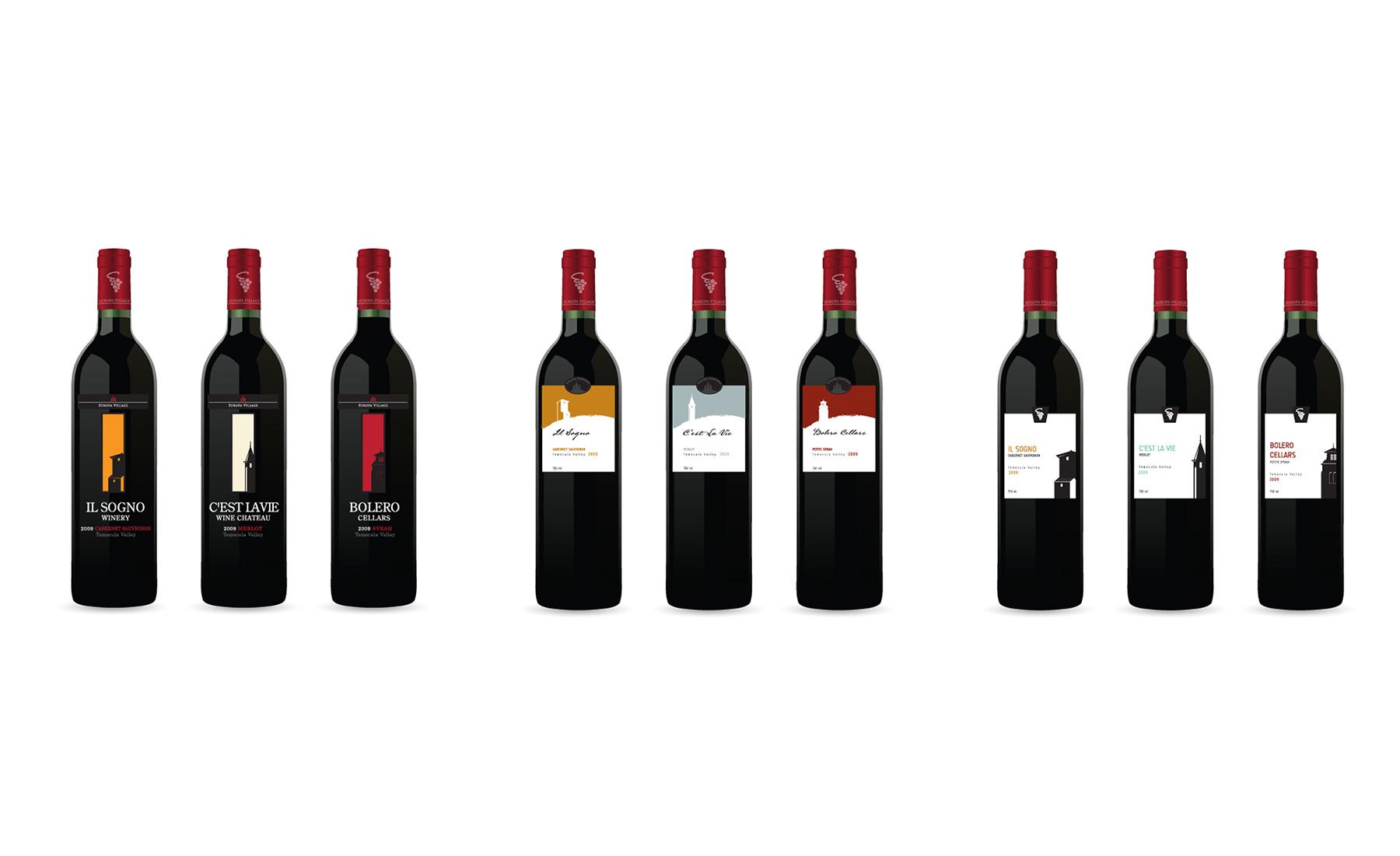 LDD WORK Europa Wine Labels