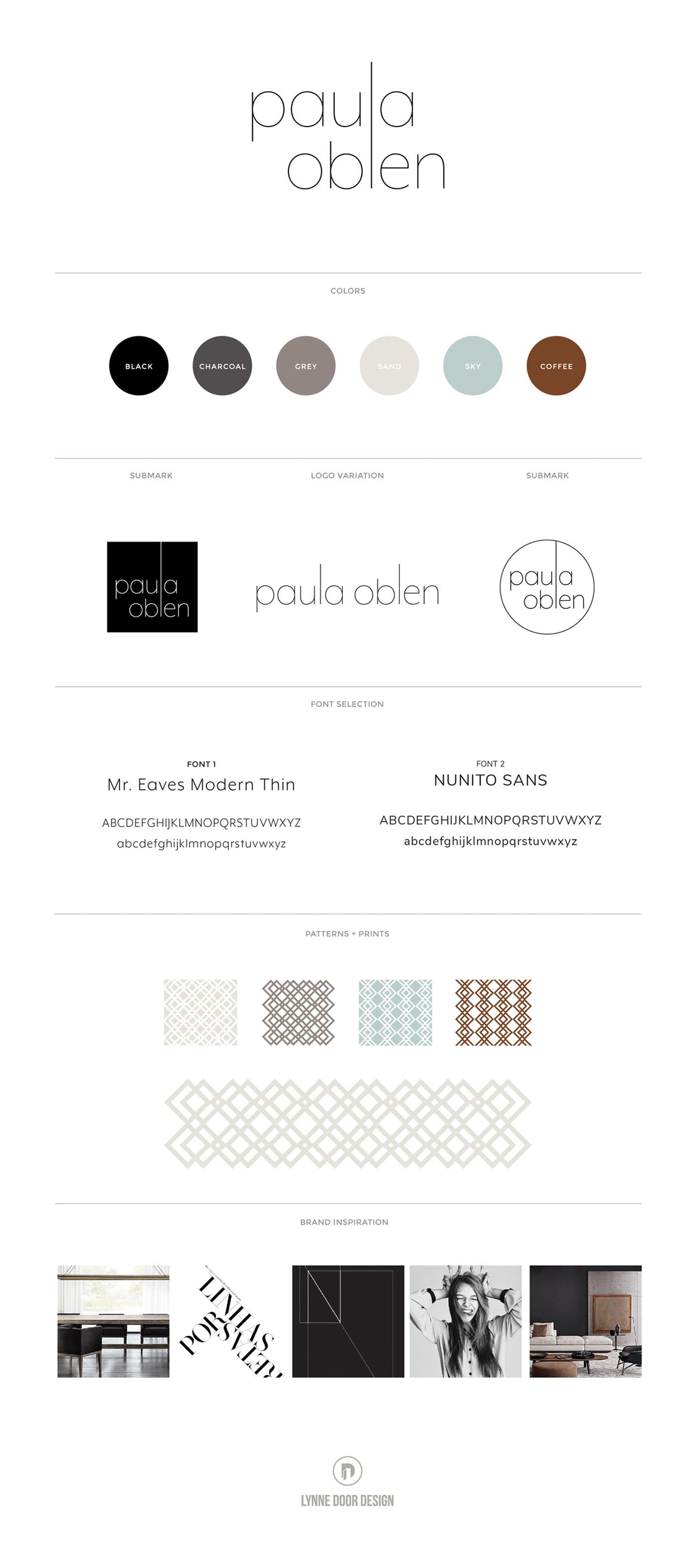 LDD WORK Paula Oblen Brand Board
