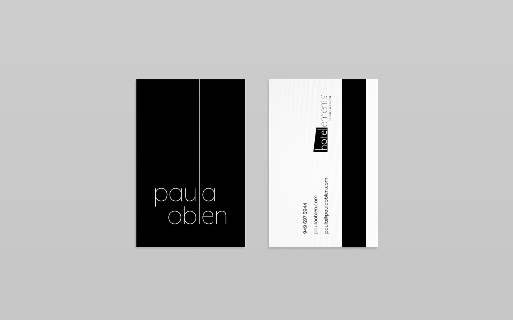 LDD WORK Paula Oblen Business Card